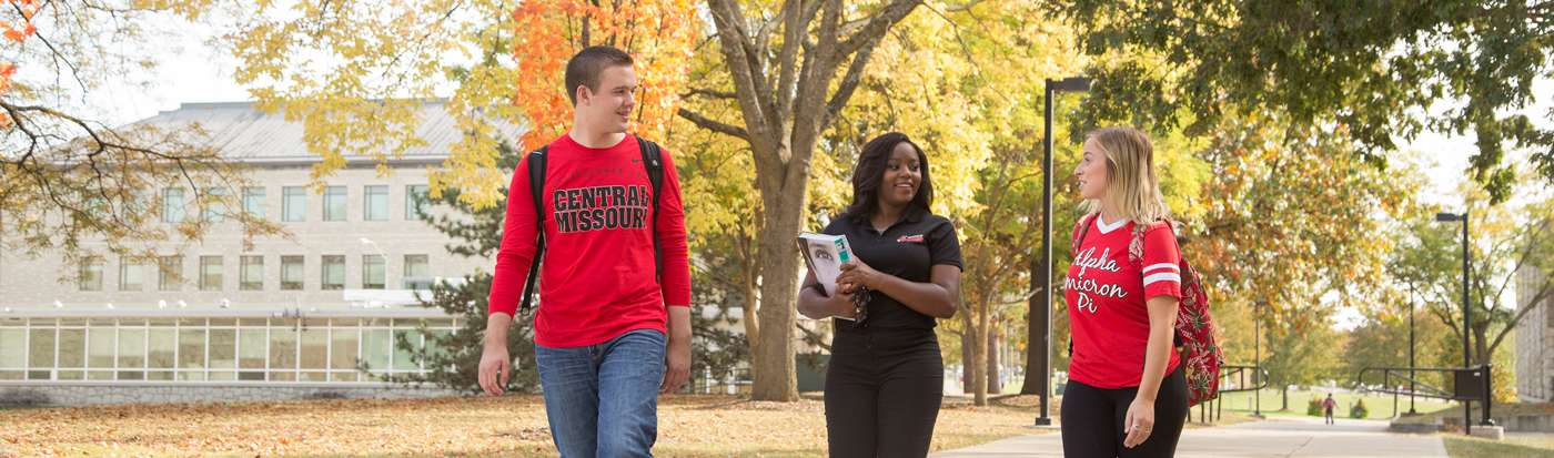 UCM students walking in front of Rec Center