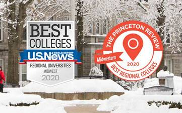 Thumbnail image: US News & World Report and Princeton Review 2020 Badges