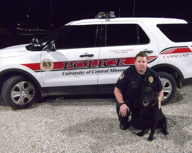 Officer Ben Brown with K9 Echo